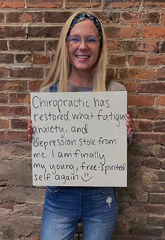 Enlighten Chiropractic mental health testimonial